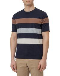 Brunello Cucinelli Striped Short-sleeve Top - Blue