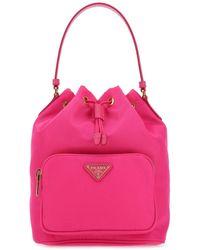 Prada Duet Drawstring Shoulder Bag - Pink