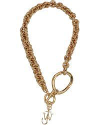 JW Anderson Oversized Chain Choker - Metallic