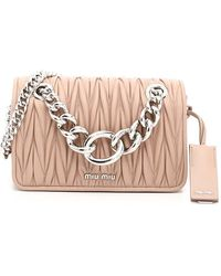 Miu Miu Matelassé Camera Crossbody Bag - Pink