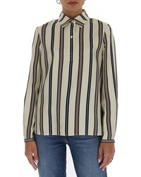 Tory Burch Striped Shirt - Multicolor