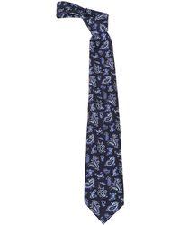 Etro Paisley Print Tie - Blue