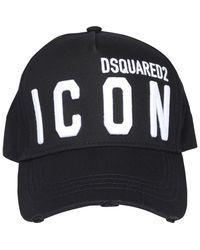 DSquared² Icon Embroidered Baseball Cap - Black