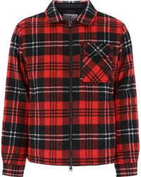 Woolrich Timber Padded Overshirt Jacket - Red