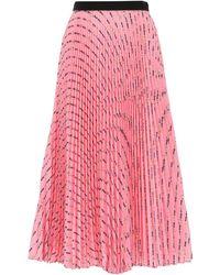 Miu Miu All Over Logo Pleated Skirt - Pink