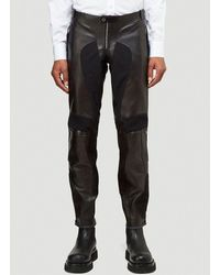 Alexander McQueen Leather Trousers - Black