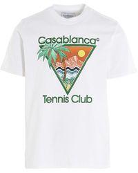 CASABLANCA Tennis Club Print T-shirt - White