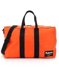 Alexander McQueen Logo Graffiti Duffle Bag - Orange