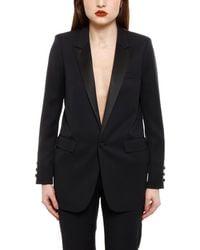 Saint Laurent Tuxedo Blazer - Black