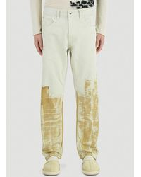A_COLD_WALL* * Pigment Print Trucker Jeans - Natural