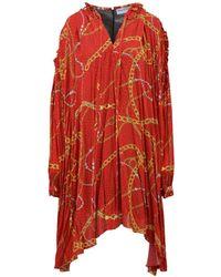 Balenciaga - Contrasting Print Smock Dress - Lyst