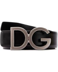 Dolce & Gabbana Dg Buckle Belt - Black