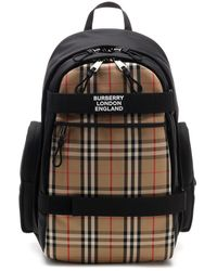 Burberry - Vintage Check Logo Backpack - Lyst