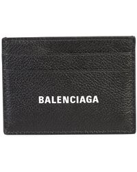 Balenciaga Logo Card Holder - Black