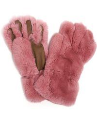 Marni Fur Gloves - Pink