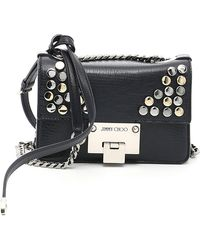 40a0e5aa19 Jimmy Choo Rebel Cross-Body Bag in Black - Lyst