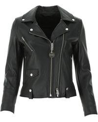 DIESEL L-lyfa Leather Biker Jacket - Black