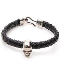 Alexander McQueen Skull Detail Bracelet - Black