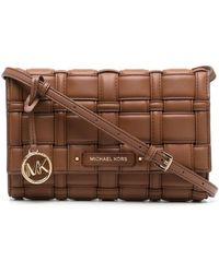 MICHAEL Michael Kors Ivy Quilted Shoulder Bag - Brown