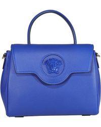 Versace Medusa Plaque Tote Bag - Blue