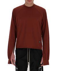 Rick Owens DRKSHDW Sleeve Cut Out Sweatshirt - Red
