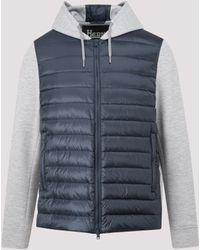 Herno Contrast Panel Hooded Jacket - Blue