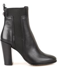 Tod's - Elastic T Leather Ankle Boots - Lyst
