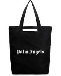Palm Angels Logo Printed Tote Bag - Black