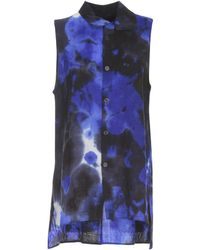 Y's Yohji Yamamoto - Sleeveless Tie-dye Shirt - Lyst