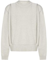 Jacquemus Crewneck Knitted Sweater - Natural