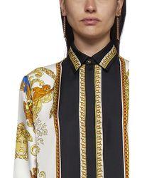 Versace Medusa Renaissance-printed Straight Hem Shirt - Multicolour