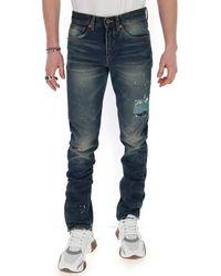 Off-White c/o Virgil Abloh Paint Detail Jeans - Blue