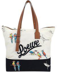 Loewe Logo Printed Zip Tote Bag - Multicolour