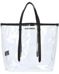 DSquared² Transparent Shopper Tote Bag - Black