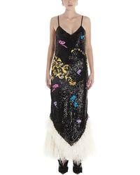 The Attico Attico Sequinned Maxi Dress - Multicolor