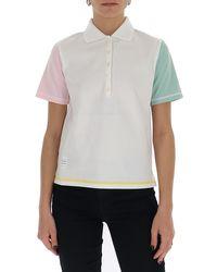 Thom Browne Colour-block Sleeve Polo Shirt - Multicolor