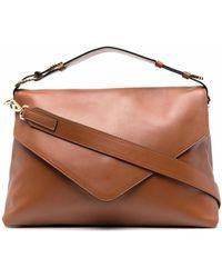 Alberta Ferretti Brown Leather Crossbody Bag