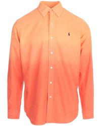 Polo Ralph Lauren Logo Dip-dye Shirt - Orange
