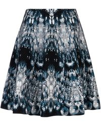 Alexander McQueen Crystal Patterned Mini Skirt - Blue