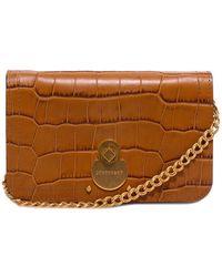 Longchamp Cavalcade Chain Clutch Bag - Brown