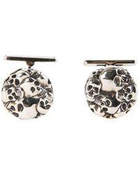Alexander McQueen Multi Skull Cufflinks - Metallic