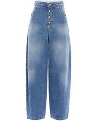 MM6 by Maison Martin Margiela Wide-leg Denim Jeans - Blue