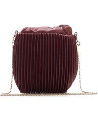 RED Valentino Redvalentino Pleated Chain Bucket Bag