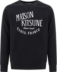 "Maison Kitsuné ""palais Royal"" Sweatshirt - Black"