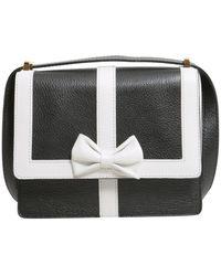 Boutique Moschino Bow Detail Crossbody Bag - Black