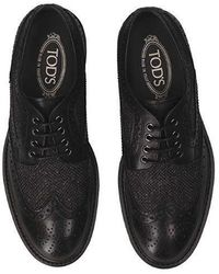 Tod's Brogue Lace-up Shoes - Black