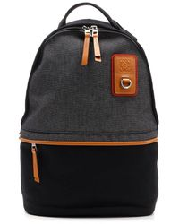 Loewe Small Paneled Backpack - Black