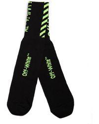 Off-White c/o Virgil Abloh Diag Logo Socks - Black