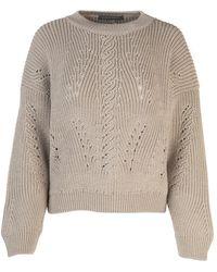 Alberta Ferretti - Perforated Detail Sweater - Lyst