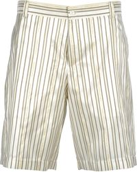 Dior Striped Logo Bermuda Shorts - White